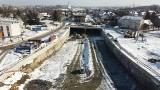 Kraków. Trasa Łagiewnicka: Zobacz, jak postępuje budowa w zimowej aurze [ZDJĘCIA]
