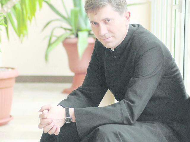 Ksiądz Janusz Bujak jest wykładowcą w koszalińskim Wyższym Seminariu m Duchownym