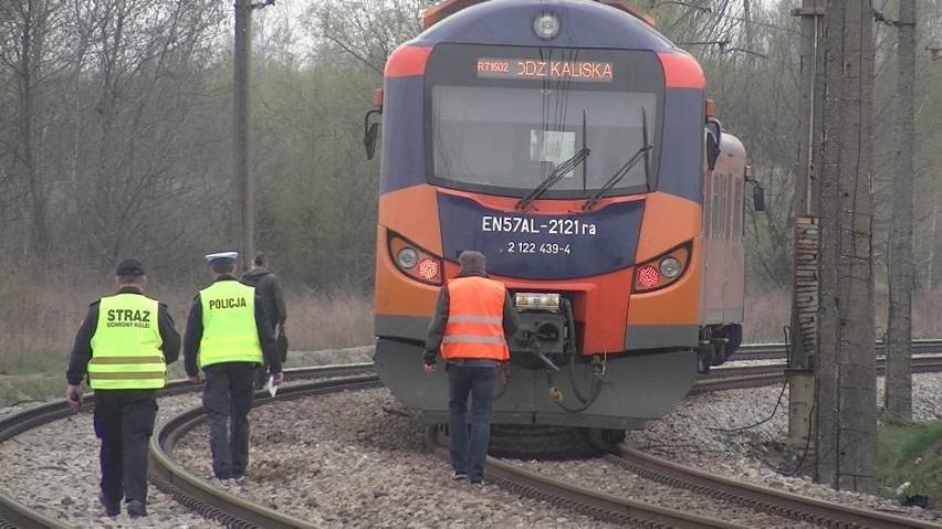 Na wysokości stacji PKP Winiary mężczyzna został potrącony przez pociąg