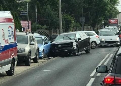 Wypadek na skrzyżowaniu Złotowskiej i Perzyckiej.