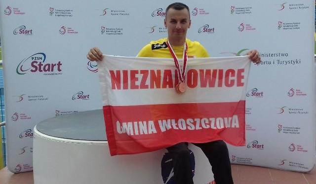 Michał Szafrański z Nieznanowic przywiózł z Mistrzostw Polski z Bydgoszczy aż trzy brązowe medale.