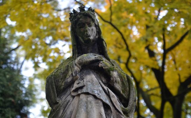 - Najwyższy czas, żeby uratować to przedstawienie Matki Boskiej. Rzeźba została wykonana z piaskowca, dlatego rysy twarzy już się rozmywają - komentuje Stanisław Santarek, przewodniczący Społecznego Komitetu Odnowy Zabytków Lublina.