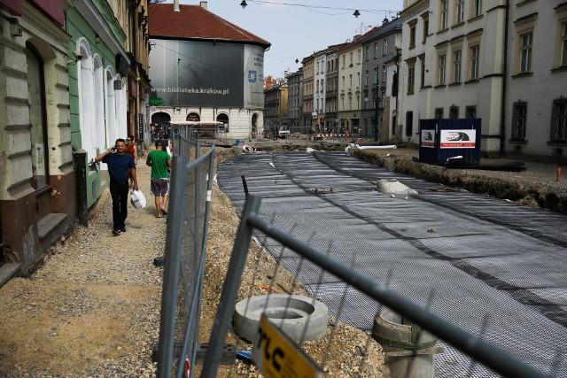 Remont ulicy Krakowskiej i mostu Piłsudskiego