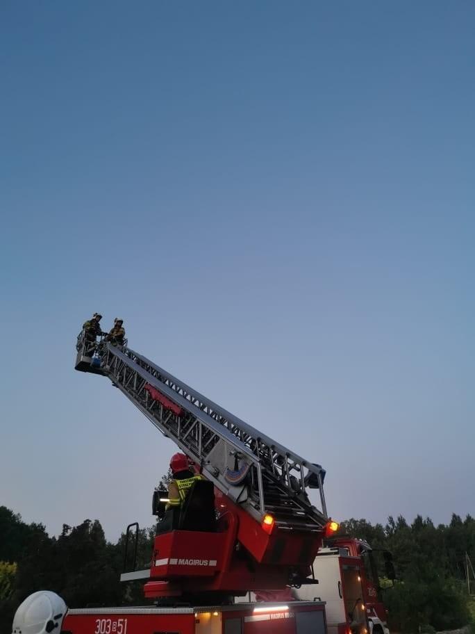 Pożar domu w Choroszczy