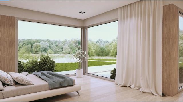 Kluczem do uzyskania wyśrubowanych parametrów jest szczelna bryła budynku. Jednym z jej gwarantów jest zastosowanie aluminiowych systemów okienno-drzwiowych. Fot. Aluprof
