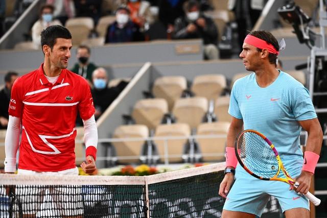 Rafael Nadal (z prawej) i Novak Djokovic