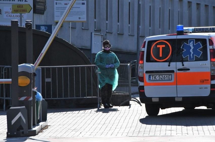 Praca na dwóch oddziałach szpitala w Kielcach sparaliżowana. Było podejrzenie koronawirusa