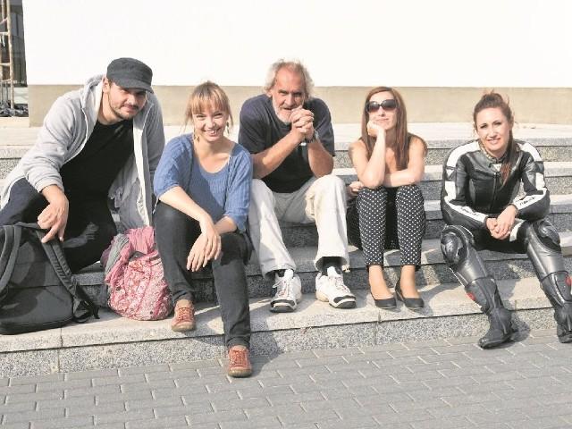 Nasza ekipa już na mecie. Prędzej czy później dotarli wszyscy: Wojciech Giedrys, Alicja Wesołowska, Lech Kamiński, Magdalena Janowska i Magda Orłowska