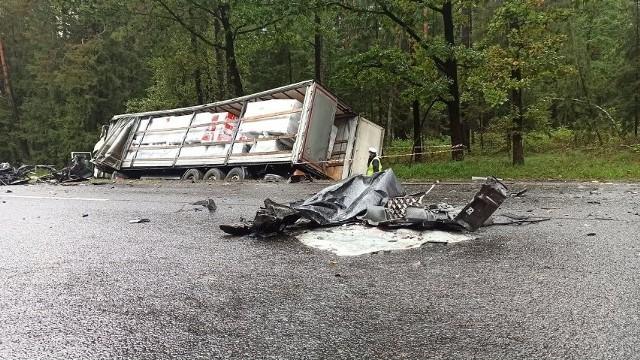 Droga w miejscu wypadku przez kilka godzin była zablokowana