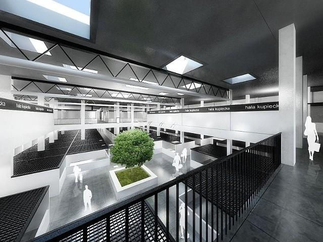 Tak będzie wyglądać wnętrze nowej hali kupieckiej u zbiegu Namysłowskiej i Dolnej