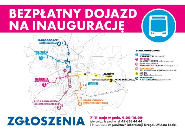 Trasy bezpłatnych autobusów dla seniorów w niedzielę 13 maja.