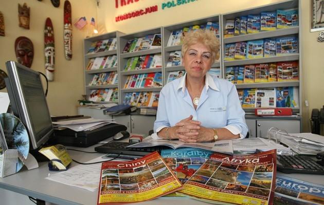 Wiesława Motylska jest zaskoczona plajtą biura, którego oferty sprzedawała.