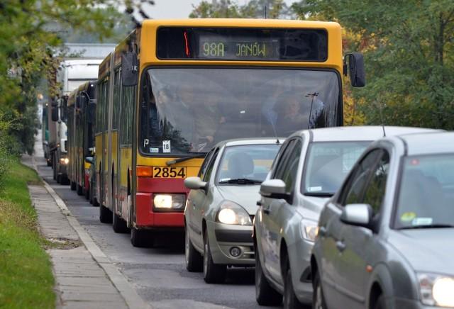 Autobusy MPK utknęły w korkach