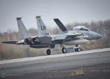 Co to za hałas nad Poznaniem? Nad Polską ćwiczą amerykańskie myśliwce F-15 i F-16, które przyleciały do baz w Krzesinach i w Łasku