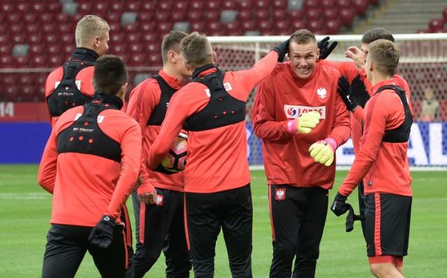 Trening reprezentacji Polski przed meczem kwalifikacyjnym z Danią