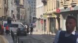 Akcja antyterrosystów w Brukseli! Otoczyli mężczyznę z ładunkiem [FILM]