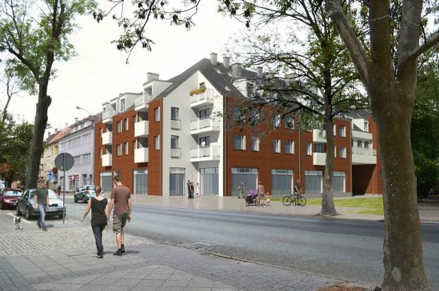 Mieszkania przy ul. Oleskiej naprzeciw gmachu UO - wizualizacja
