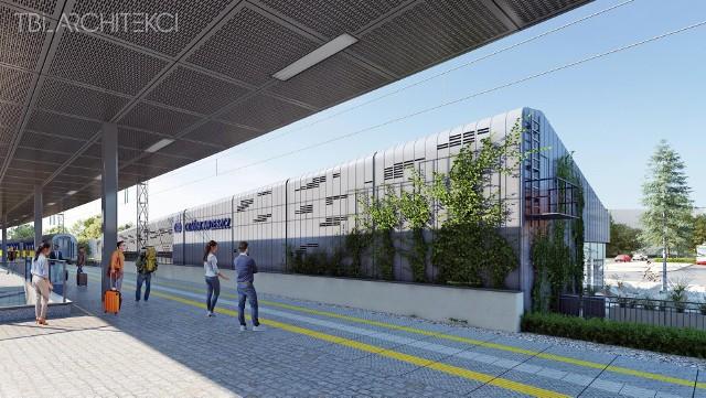 Projekt odnowionego dworca kolejowego we Wrzeszczu