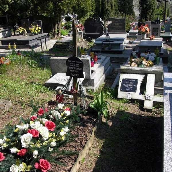 Zdewastowany cmentarz komunalny w Sanoku