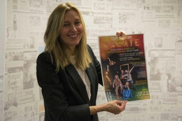 """Do wzięcia udziału w zajęciach w ramach Teatru """"Create"""" zachęca Magdalena Jamka-Galea."""