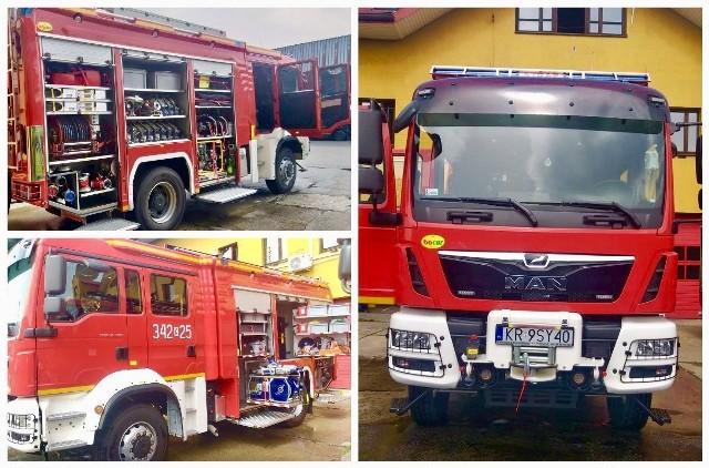 Nowy ciężki samochód ratowniczo – gaśniczy w KM PSP Nowy Sącz