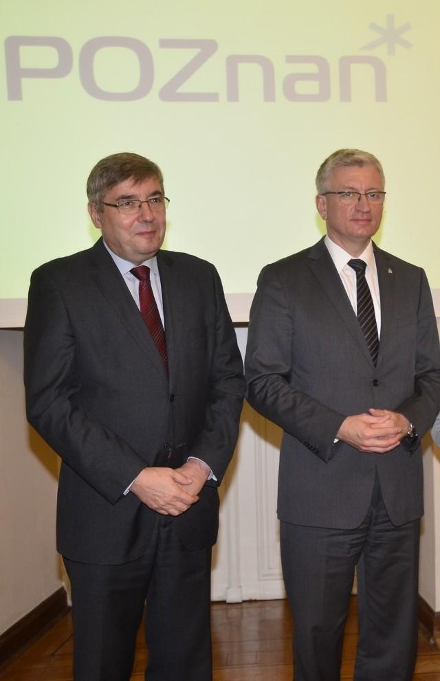 Grzegorz Ganowicz (z lewej) zapewnia, że relacje między nim, a prezydentem Jackiem Jaśkowiakiem są poprawne