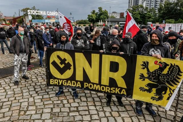 Marsz środowisk nacjonalistycznych w Gdańsku 05.09.2020