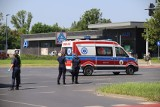 Poważny wypadek - potrącenie pieszego na alei Jana Pawła II. ZDJĘCIA