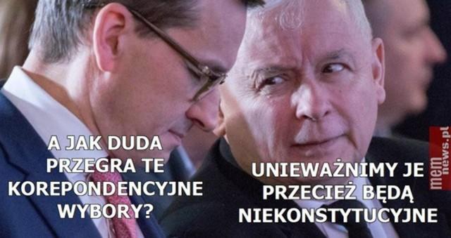 """Koronawirus a wybory prezydenckie. Memy internautów komentują wysyłanie Polaków """"do urn""""Zobacz kolejne zdjęcia. Przesuwaj zdjęcia w prawo - naciśnij strzałkę lub przycisk NASTĘPNE"""