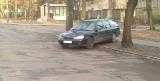 Ten autodrań lubi parkować w dziwny sposób