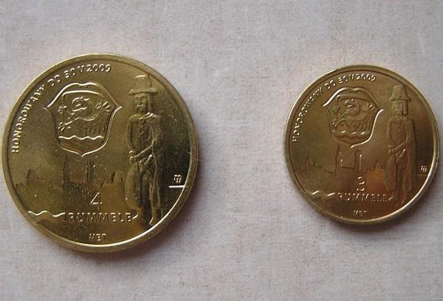 Lokalne monety rummele.