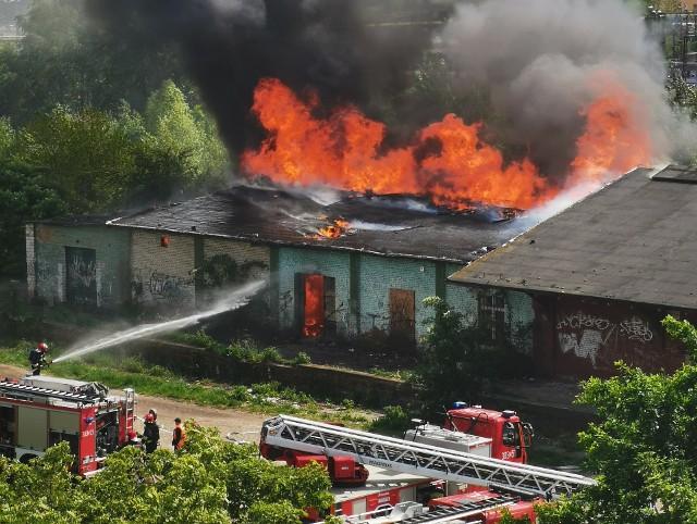 Pożar na Przedmieściu Oławskim przy ulicy Świstackiego