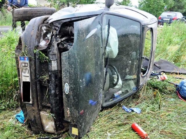 Kierowca forda trafił do szpitala