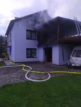Stróża. Pożar domu. Ogień pojawił się nad ranem