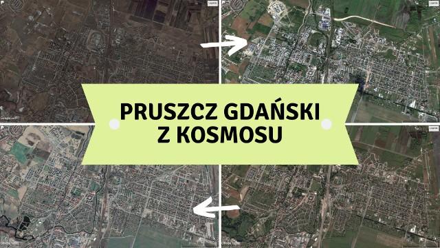 Zdjęcia satelitarne z kosmosu pozwalają nam zaobserwować, jak zabudowa miasta zmieniała się na przestrzeni lat. W naszej galerii możecie zobaczyć jak Pruszcz Gdański zmieniał się z biegiem czasu!