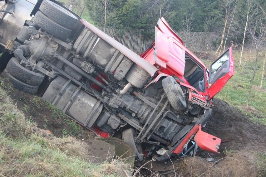 Wypadek cysterny w Górznej.