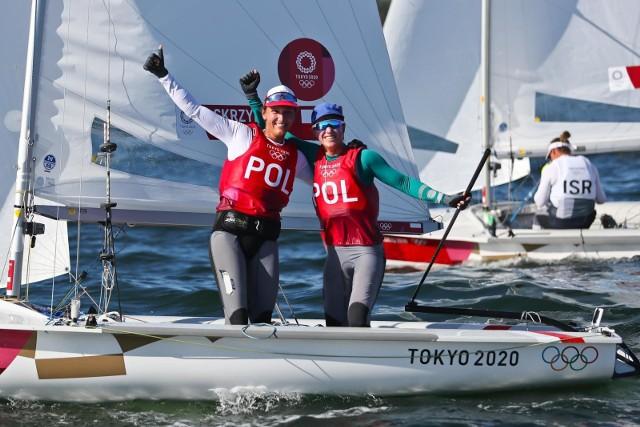 jolanta Ogar-Hill i Agnieszka Skrzypulec. Srebrne medalistki z Tokio w żeglarstwie w klasie 470.
