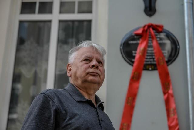 14.08.2020, Gdańsk Wrzeszcz, odsłonięcie pamiątkowej tablicy upamiętniającej decyzję o początku strajku