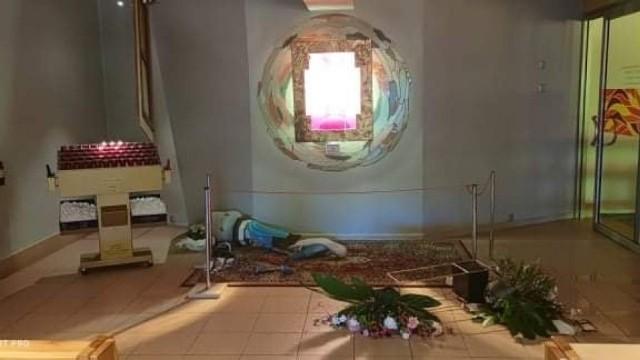 Środowy akt wandalizmu to już kolejne takie wydarzenie w konińskiej świątyni
