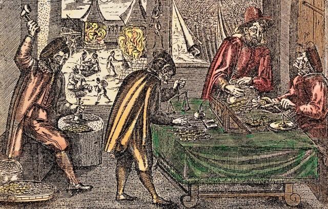 """W średniowieczu do większości transakcji niezbędna była zawsze waga. Kwoty podawano w """"idealnych"""" jednostkach rozrachunkowych, np. w grzywnach lub polskich złotych. Jednak monety, choć mogły odpowiadać im kwotowo, mogły zarazem znacznie różnić się wagą i zawartością kruszcu. Dopiero zastosowanie wagi pozwalało jednoznacznie określić, ile tak naprawdę monet- i jakich- powinno przepłynąć od kupującego do sprzedającego."""