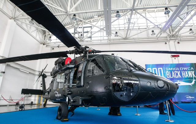 Na zdjęciu Black Hawk w PZL Mielec