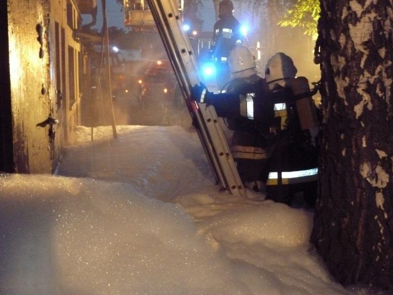 Mimo szybkich działań strażakom nie udało się ocalić budynku