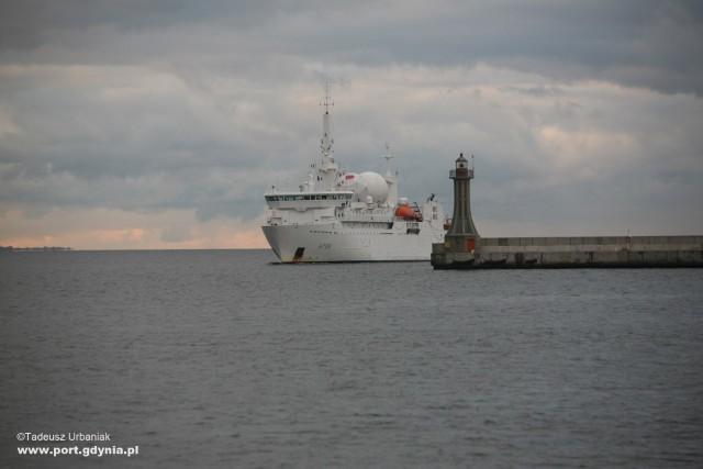Francuski okręt Dupuy de Lome w Gdyni
