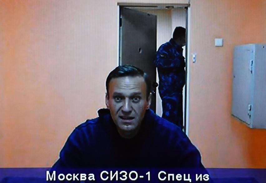 Aleksiej Nawalny w więzieniu w Moskwie w styczniu 2021 r.