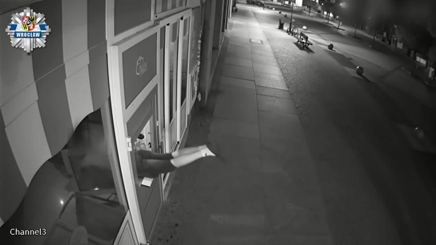 Seryjny złodziej w rękach policji. Okradł 30 barów i restauracji we Wrocławiu. Zobaczcie nagrania z monitoringu