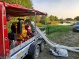 Wysoki poziom Wisły w Tarnobrzegu. Woda zagroziła osiedlu, strażacy w akcji