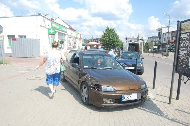 Kierowca hondy, mieszkaniec powiatu pułtuskiego, był sprawcą kolizji, do której doszło 30 maja około godziny 14