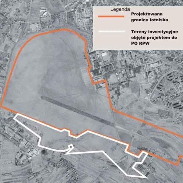 Planowana strefa dla inwestorów, wydzielona z części lotniska, stała się kością niezgody pomiędzy miastem a powiatem.