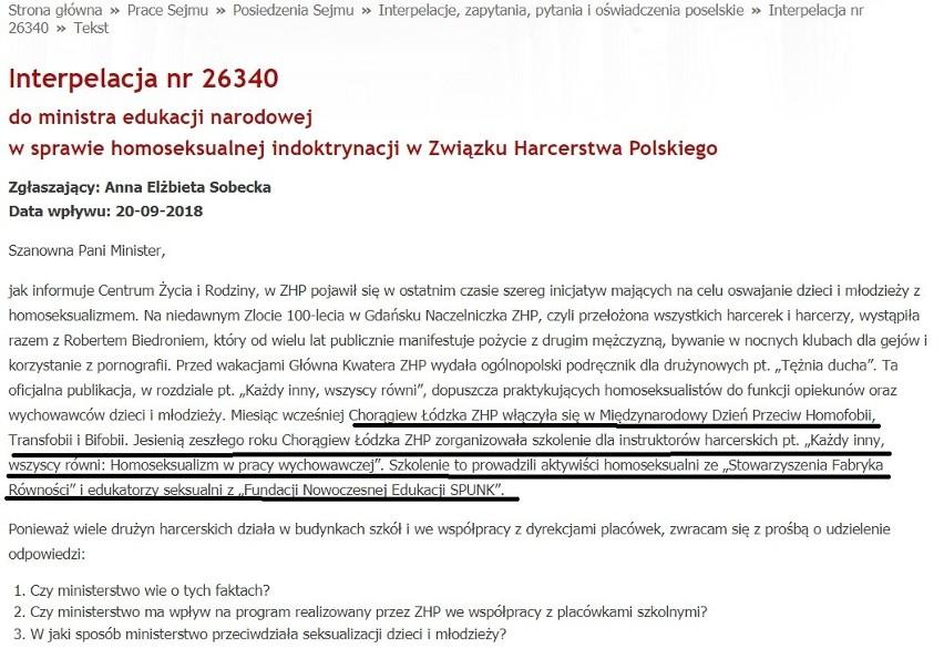 20 września zainspirowana petycją posłanka Anna Sobecka...