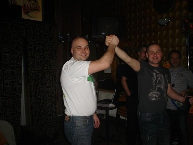 Na zdjęciu obrońcy tytułu: Paweł Schab i Krzysztof Szuberla.